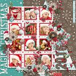 Have Yourself A Country Little Christmas :: Layout by Julie