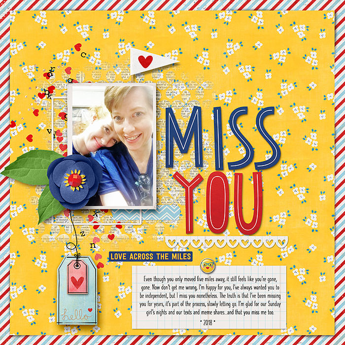 Digital Scrapbooking Layout by Keely