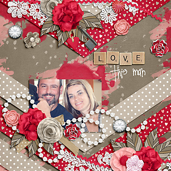 Digital scrapbooking layout by Carrie using Owl For Love Kit by lliella designs