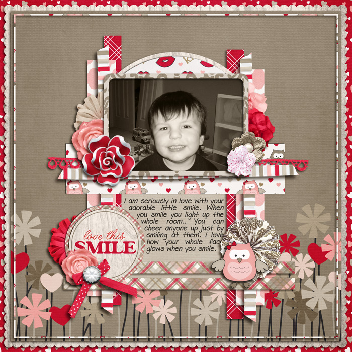 Digital scrapbooking layout by Hailey using Owl For Love Kit by lliella designs