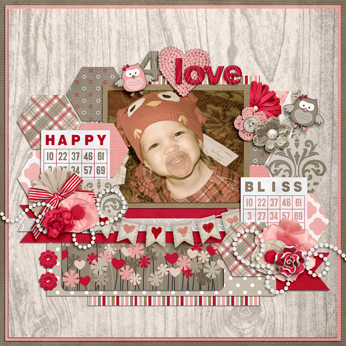 Digital scrapbooking layout by Jill using Owl For Love Kit by lliella designs