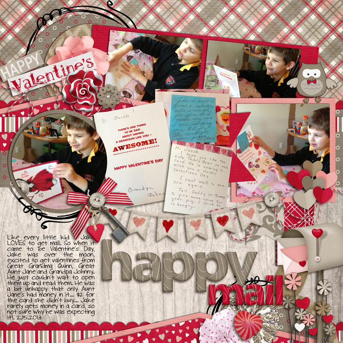 Digital scrapbooking layout by Rebecca using Owl For Love Kit by lliella designs