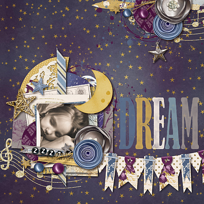 Once Upon a Dream digital scrapbook kit by Brook Magee, Krystal Hartley and Studio Basic