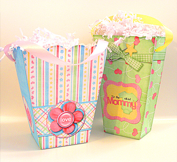 Popcorn Boxes designed by Justine Hastie using Girls & Dolls