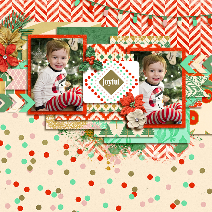 Joyeux Noel digital scrapbook kit