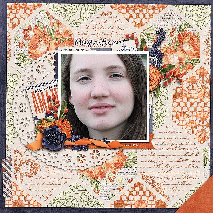 Me the Magnificent Digital Scrapbook Kit by Krystal Hartley