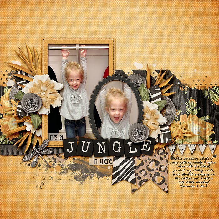 Wild Digital Scrapbook Kit by Krystal Hartley