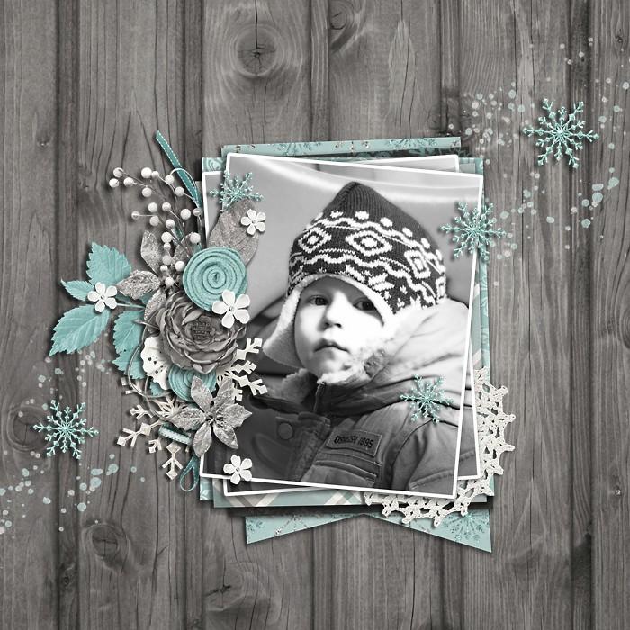 Winter's Veil Digital Scrapbook Kit