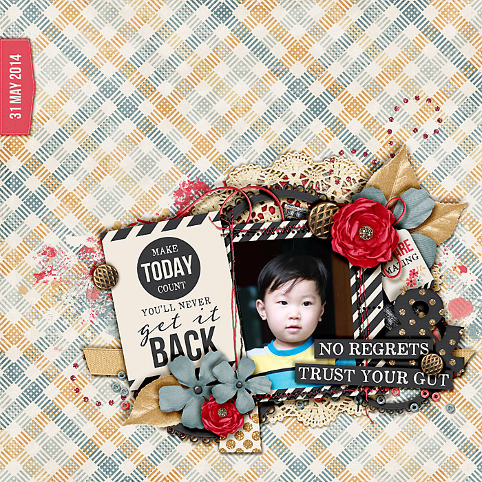 To My Younger Self Digital Scrapbook Kit by Kristin Cronin-Barrow and Krystal Hartley