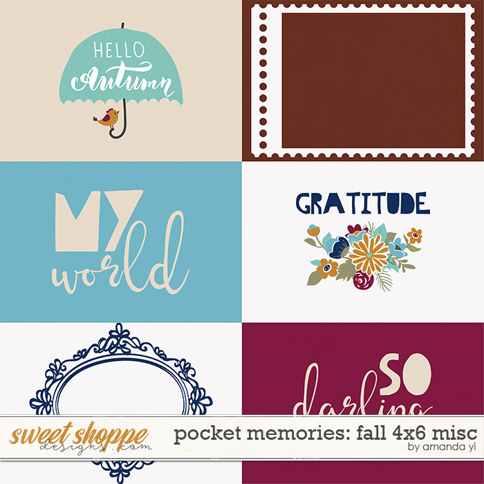 Pocket Memories: Fall 4x6 Misc by Amanda Yi