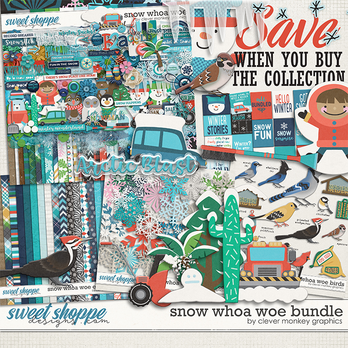 Snow Whoa Woe Bundle by Clever Monkey Graphics