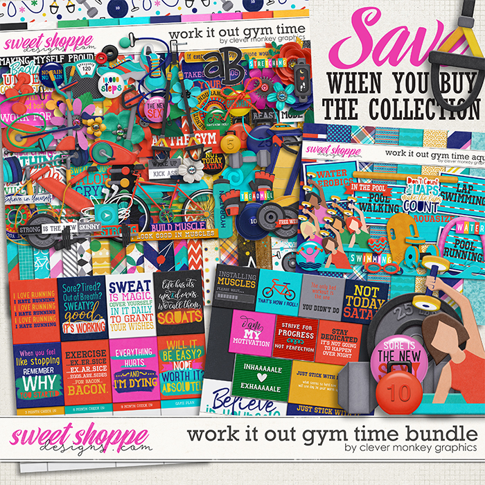 Work it Out Gym Time Bundle by Clever Monkey Graphics
