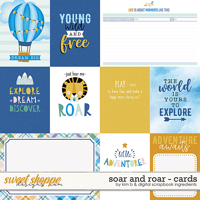 Soar And Roar | Cards by Digital Scrapbook Ingredients & Kim B