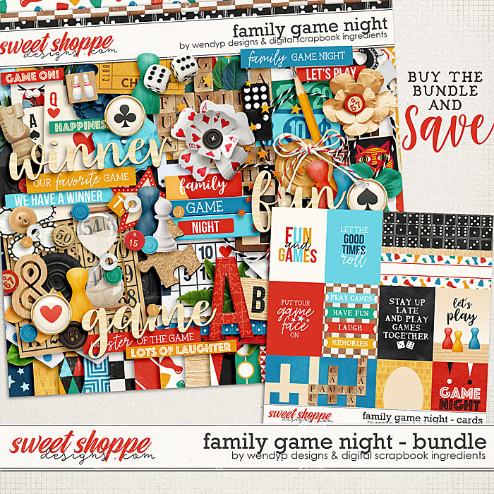 Family game night - Bundle by Digital Scrapbook Ingredients & WendyP Designs