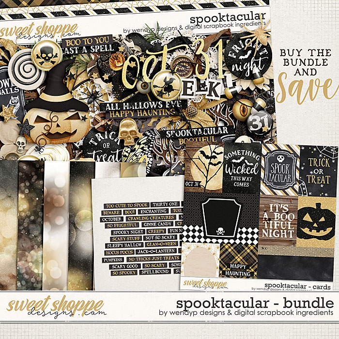 Spooktacular - Bundle by WendyP Designs and Digital Scrapbook Ingredients