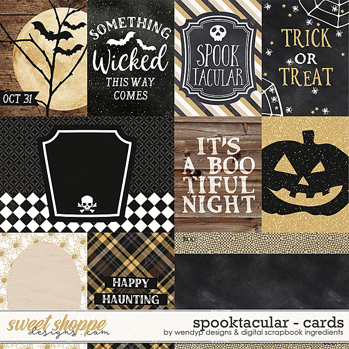 Spooktacular - Cards by WendyP Designs and Digital Scrapbook Ingredients