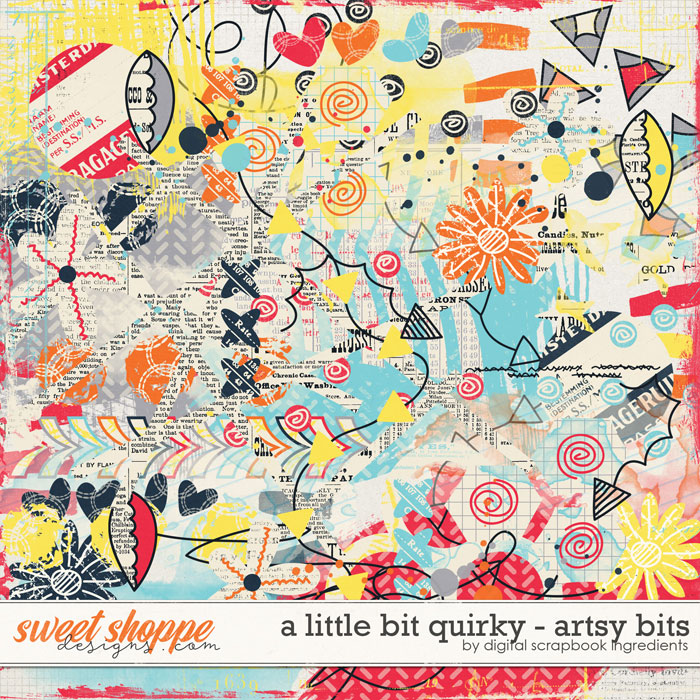 A Little Bit Quirky | Artsy Bits by Digital Scrapbook Ingredients