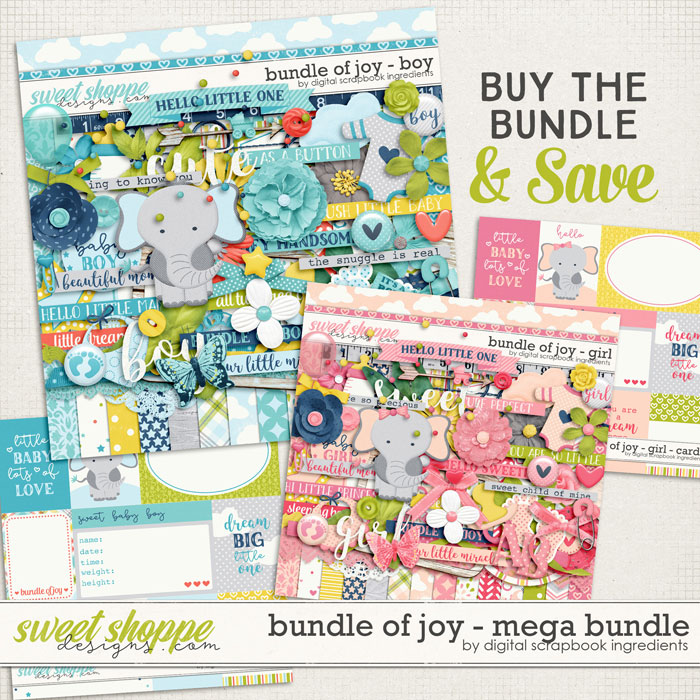 Bundle Of Joy Mega Bundle by Digital Scrapbook Ingredients