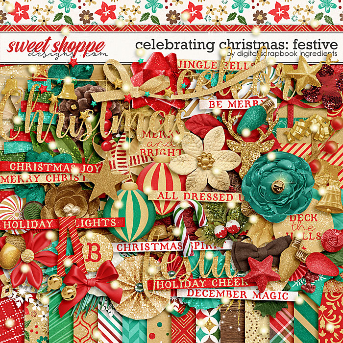 Celebrating Christmas: Festive by Digital Scrapbook Ingredients
