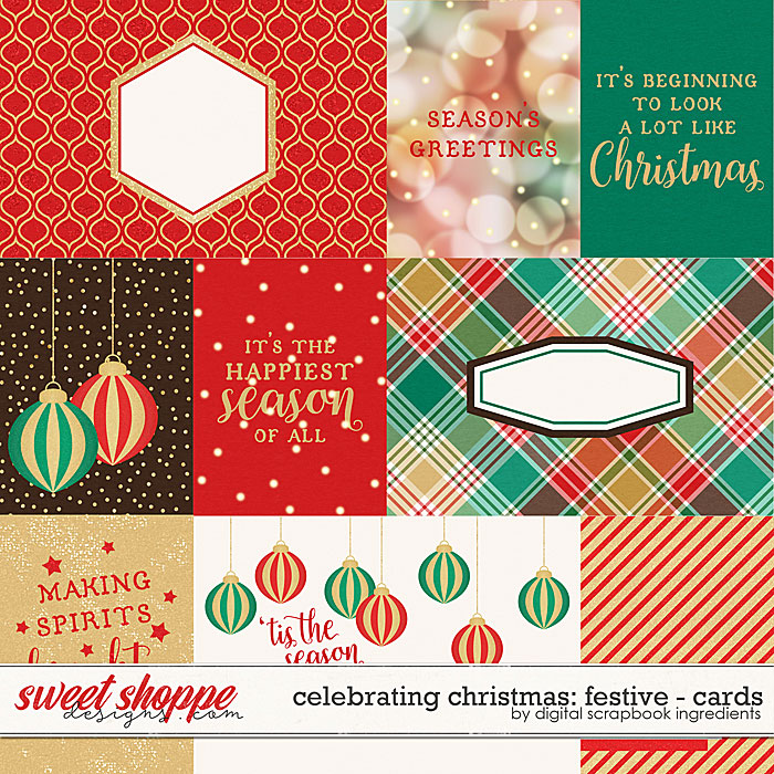 Celebrating Christmas: Festive | Cards by Digital Scrapbook Ingredients