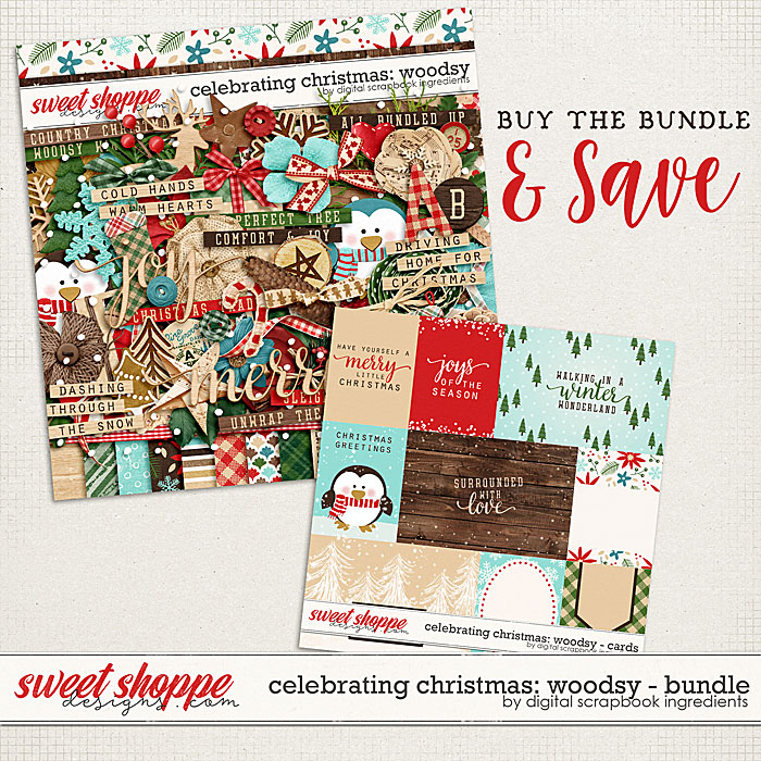 Celebrating Christmas: Woodsy Bundle by Digital Scrapbook Ingredients