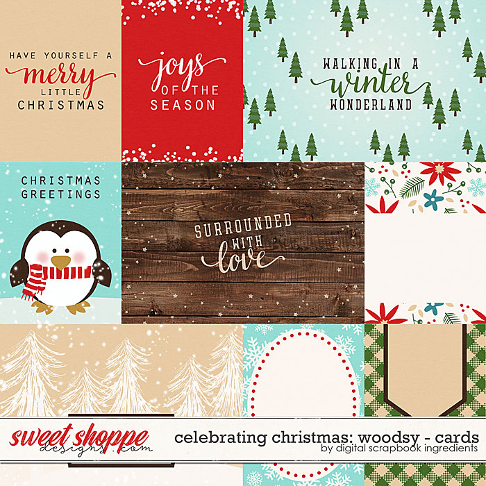 Celebrating Christmas: Woodsy | Cards by Digital Scrapbook Ingredients