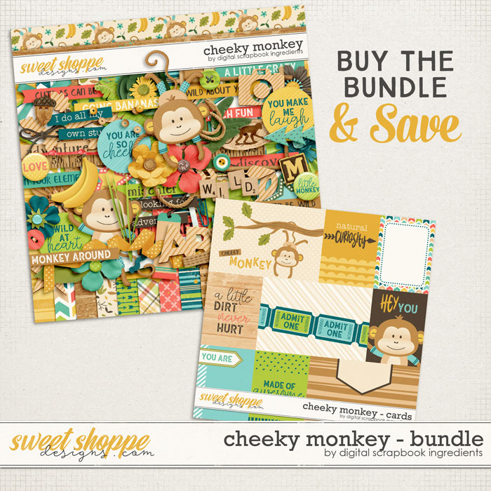 Cheeky Monkey Bundle by Digital Scrapbook Ingredients