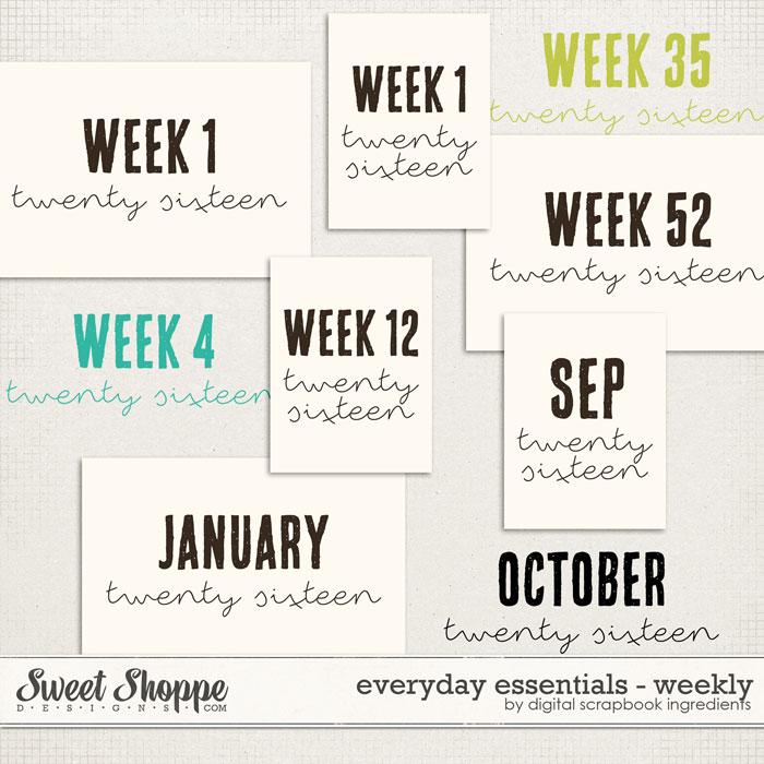 Everyday Essentials | Weekly by Digital Scrapbook Ingredients