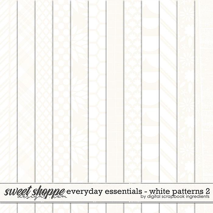 Everyday Essentials | White Patterns 2 by Digital Scrapbook Ingredients