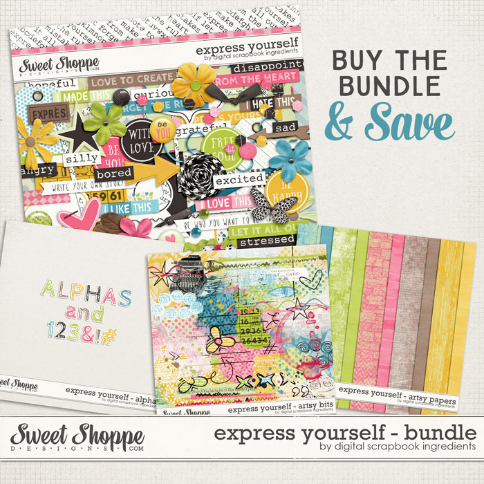 Express Yourself Bundle by Digital Scrapbook Ingredients