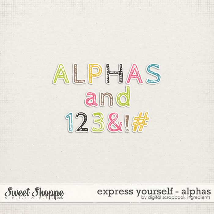 Express Yourself | Alphas by Digital Scrapbook Ingredients