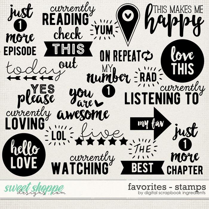 Favorites | Stamps by Digital Scrapbook Ingredients