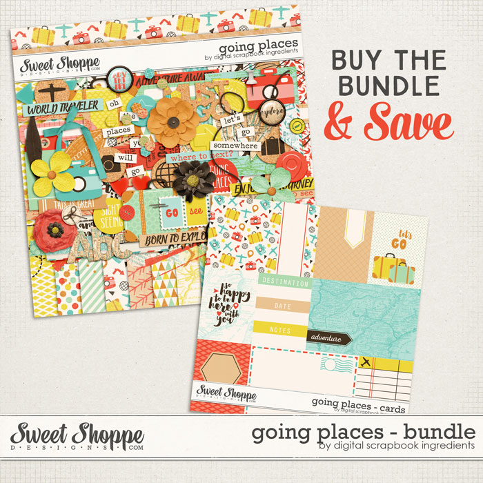 Going Places Bundle by Digital Scrapbook Ingredients