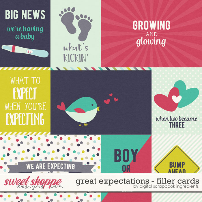 Great Expectations | Filler Cards by Digital Scrapbook Ingredients