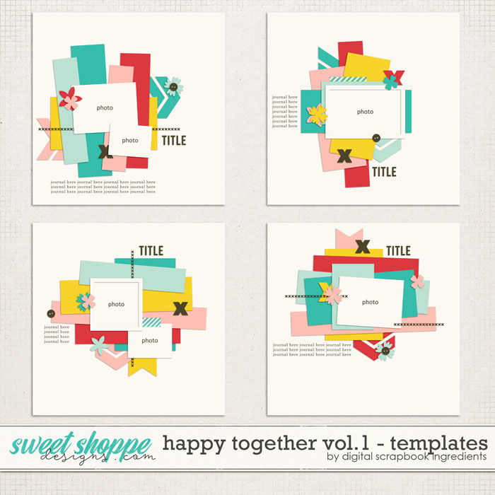 Happy Together Templates Vol.1 by Digital Scrapbook Ingredients