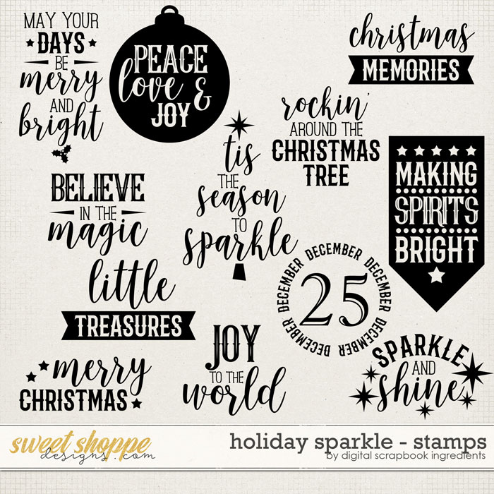 Holiday Sparkle | Stamps by Digital Scrapbook Ingredients