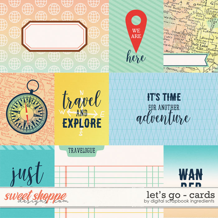 Let's Go | Cards by Digital Scrapbook Ingredients
