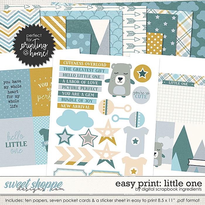 Easy Print: Little One by Digital Scrapbook Ingredients