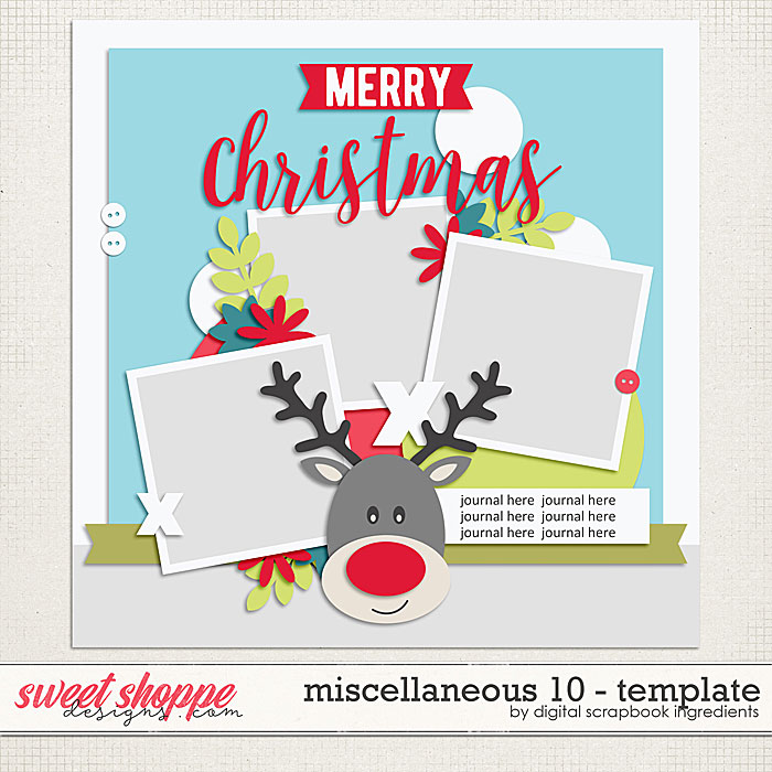 Miscellaneous 10 Template by Digital Scrapbook Ingredients