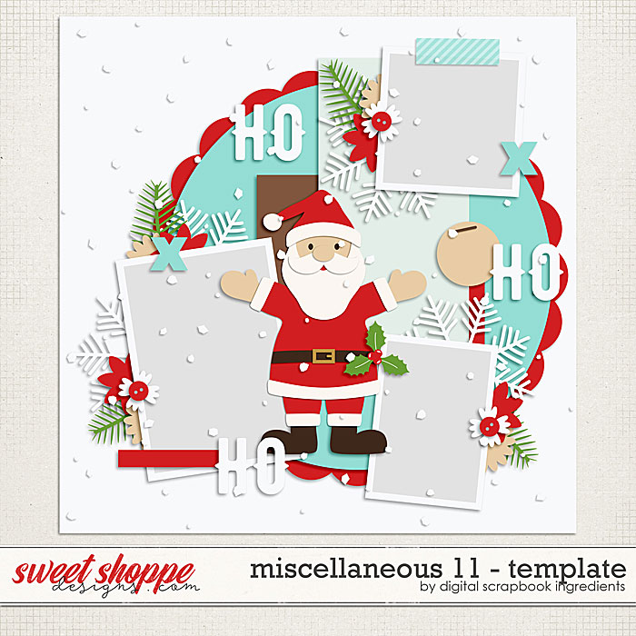 Miscellaneous 11 Template by Digital Scrapbook Ingredients