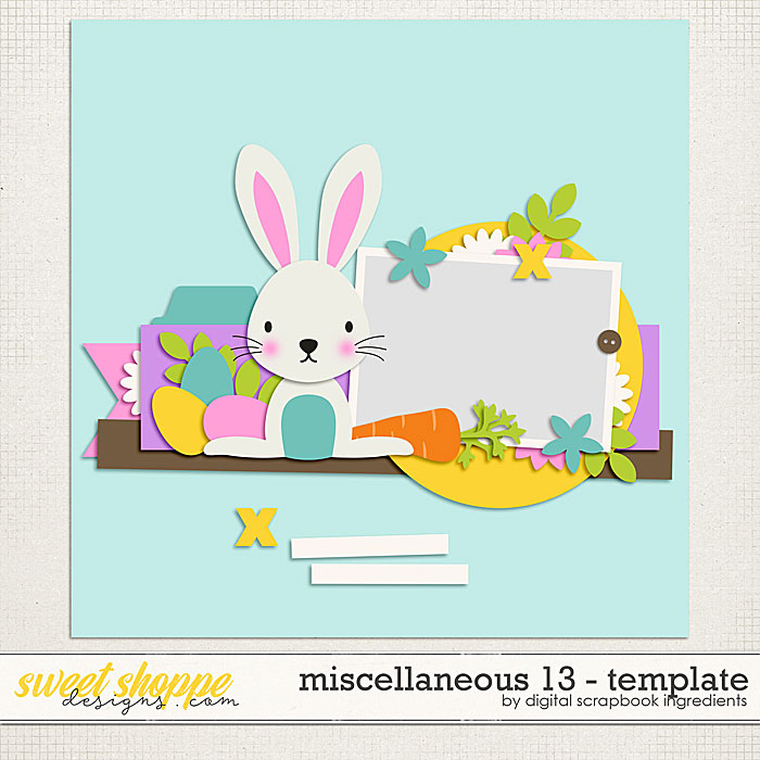 Miscellaneous 13 Template by Digital Scrapbook Ingredients