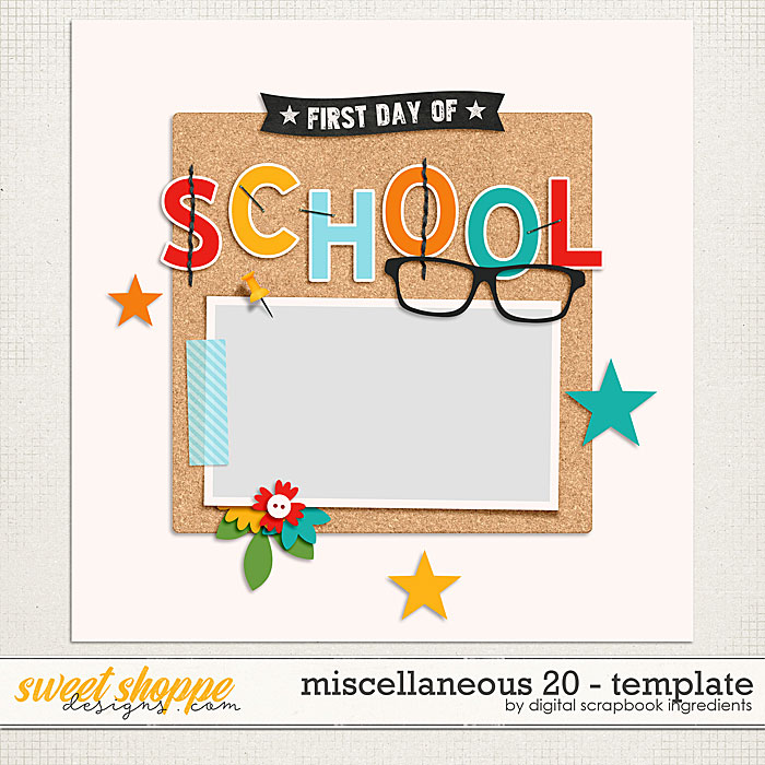 Miscellaneous 20 Template by Digital Scrapbook Ingredients