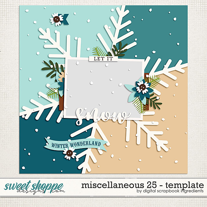 Miscellaneous 25 Template by Digital Scrapbook Ingredients