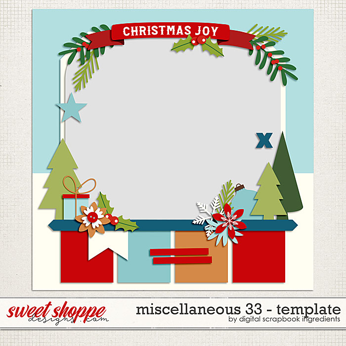 Miscellaneous 33 Template by Digital Scrapbook Ingredients
