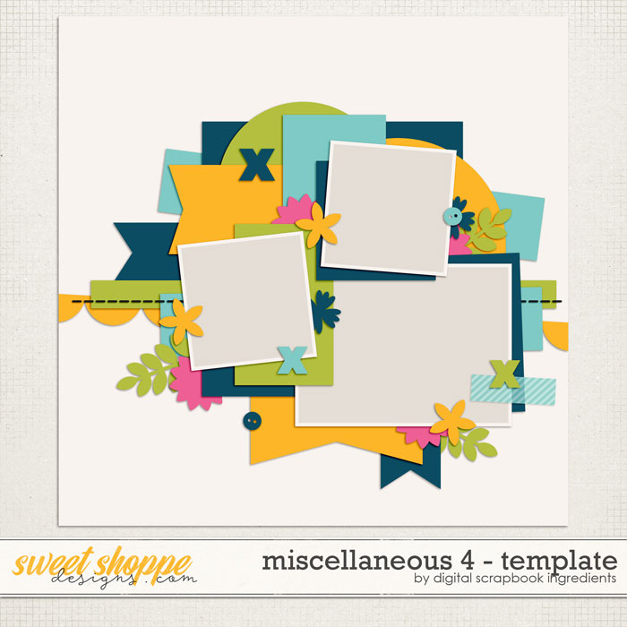 Miscellaneous 4 Template by Digital Scrapbook Ingredients