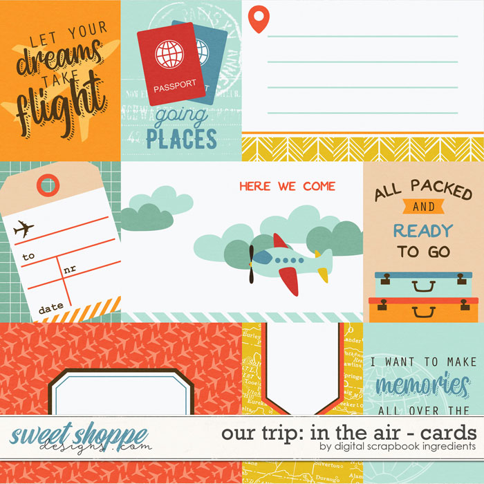 Our Trip: In The Air | Cards by Digital Scrapbook Ingredients