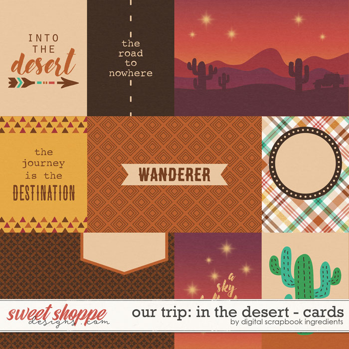 Our Trip: In The Desert | Cards by Digital Scrapbook Ingredients