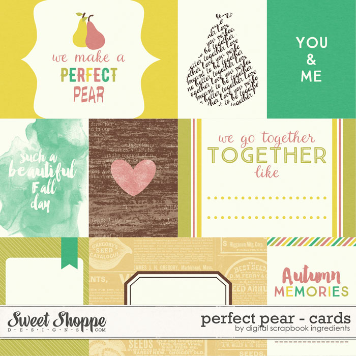 Perfect Pear | Journal Cards by Digital Scrapbook Ingredients