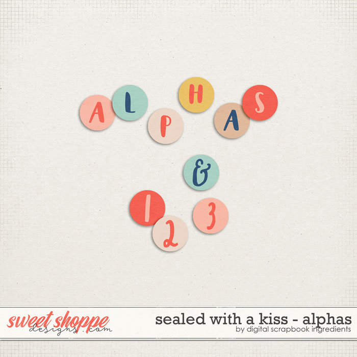 Sealed With A Kiss | Alphas by Digital Scrapbook Ingredients