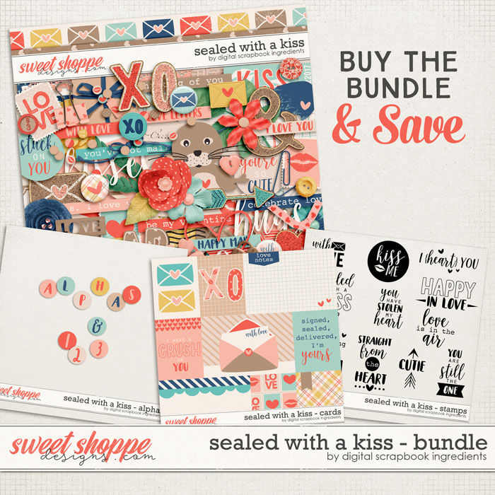 Sealed With A Kiss Bundle by Digital Scrapbook Ingredients